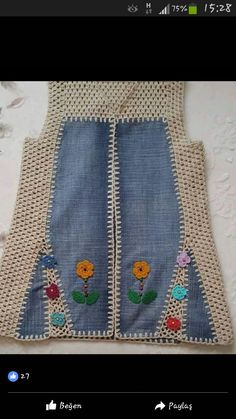 Hairpin Lace, Folk Fashion, Recycled Denim, Crochet Clothes, Refashion, Sewing Crafts, Crochet Top, Summer Outfits, Crochet Patterns