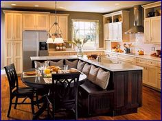 Fabulous Portable Kitchen Island On Kitchen Island Bar Small Kitchen Island With Attached Table Ideas Kitchen Island With Seating Design Ideas On Unusual Kitchens Kitchen Island Bench, Kitchen Island Designs With Seating, Kitchen Island Table, Kitchen Remodel, Kitchen Booths, Kitchen Remodel Small, Kitchen Island Dining Table, Kitchen Island Design, Kitchen Layout