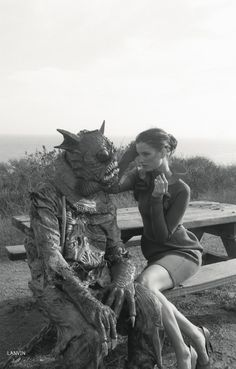 Creature From The Black Lagoon, fashion editorial, photo by Marlene Marino for Dazed & Confused Sept 2012