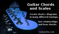 The Ultimate Guitar Chords and Scales Generator. Welcome to the ultimate guitar chords and scales app! This all in one guitar chord and scale generator has many features. A few of which are: - See what chords belong to a scale. - Create custom scale charts / diagrams in many different tunings. -...