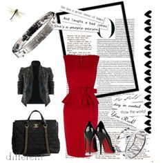 What to Wear With: A Red Dress by kjerox on Polyvore