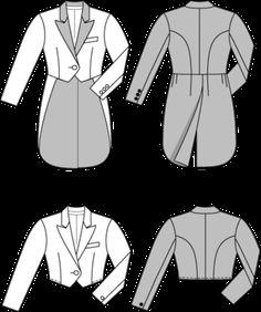 Burda - Kurze Jacke & Varieté - Frack