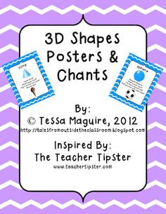 FREEBIE: 3D Shapes Posters & Chants from Tales from Outside the Classroom.