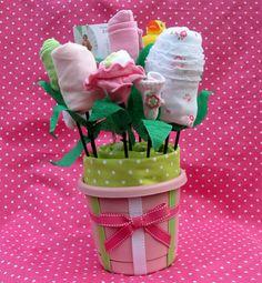 Baby Bouquet center pieces (reusable decor)