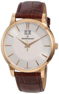 Claude Bernard Men's 63003 37R AIR Classic Gents Rose Gold PVD Silver Dial Leather Date Watch claude bernard,http://www.amazon.com/dp/B006IQJK74/ref=cm_sw_r_pi_dp_LrB3rb12060KXR3Q