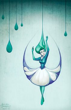 Kristin Kemper- Raindrops. This girl worked for Disney for a while, her stuff is beautiful.///This is pretty cute<<< interesting design...