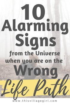 10 Alarming Signs from the Universe when you are on the Wrong Life Path Finding Purpose, Life Purpose, Self Development, Personal Development, Signs From The Universe, Happy To Meet You, Manifestation Law Of Attraction, Finding Happiness, Self Improvement Tips