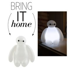 """Bring It Home: Big Hero 6 Baymax Nightlight"" by polyvore-editorial ❤ liked on Polyvore featuring interior, interiors, interior design, home, home decor, interior decorating and bringithome"