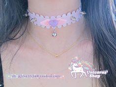 【The Tai Mei ☆】 Japan YURA AMO YURA angel pink love collar necklace the bells light purple - Taobao