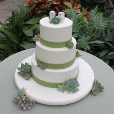 Love this Sweet Succulent Wedding Cake by #whippedbakeshop for $6.00 per serving http://www.whippedbakeshop.com