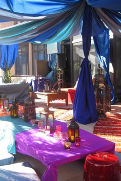 Moroccan inspired roof party! Reminds me of Aladdin!