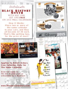 Give African American wall calendars featuring Black History Facts as Black History Month gifts