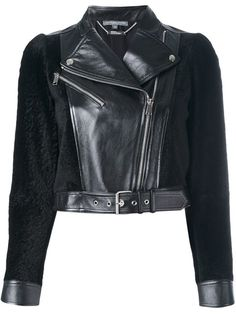 Shop Alexander McQueen cropped biker jacket in Gente Roma from the world's best independent boutiques at farfetch.com. Shop 400 boutiques at one address.