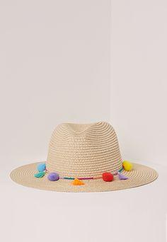 a2c59336 Pom Pom Tassel Festival Straw Fedora Multi Tassel Bracelet, Tassel Jewelry,  Boho Hat,