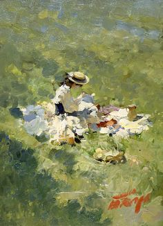 Breakfast on a grass,   Bato Dugarzhapov
