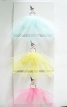 Ballerina Tutu Canvas Art