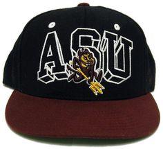 fcf5f060c91 Arizona State University ASU Sun Devils Adjustable Snapback Ball Cap Zephyr  Hat…