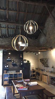 barrel lamp - Château Carbonneau