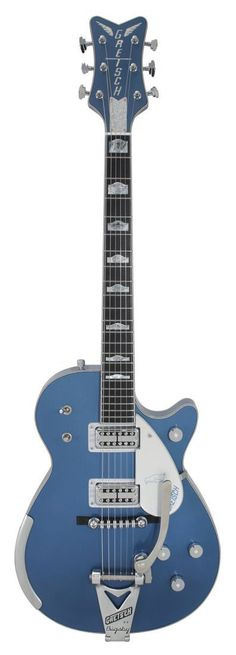 Gretsch Masterbuilt, Lake Placid Blue Penguin I'd like to give it a whirl. Guitar Art, Music Guitar, Cool Guitar, Playing Guitar, Acoustic Guitar, Ukulele, Guitar Body, Gretsch, Gibson Les Paul