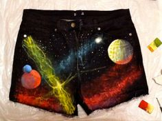 Galaxy shorts that I made inspired by World of Warcraft. Click the link to purchase!