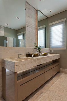 Projeto studio IB Interior Design Toilet, Bathroom Interior, Decoration, Bathrooms, Sweet Home, New Homes, Houses, Mirror, Architecture