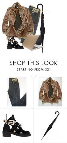 """Students LookBook"" Marella by MaxMara blazer / short coat, Dolce&Gabbana brown shirt, Daks London 100% Silk plaid scarf equestrian theme and Dolce&Gabbana denim slim fit jeans! Go for it!  Best Prices"