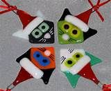 Santa Claus Fused Glass Christmas Ornament by creationsinglass