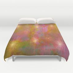 Starburst Abstract Duvet Covers by Judy Palkimas