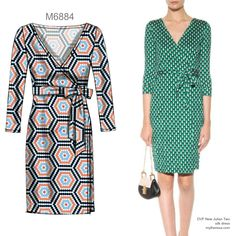 Sew the Look: McCall's wrap dress pattern for knits. M6884.