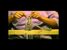 How To Weave On A Peg Loom - YouTube