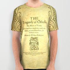 Shakespeare. Othello, 1622. All Over Print Shirt