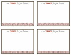Thankful for friends and family - plus a free printable!! | Organizing Made Fun: Thankful for friends and family - plus a free printable!!
