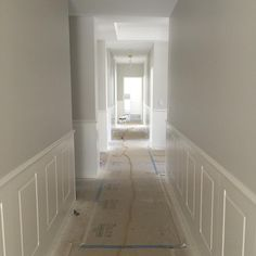 Panelling in and painted Hamptons Style Homes, The Hamptons, Street House, Park House, Entry Hallway, Wainscoting, Cool Walls, Victorian Homes, Windows And Doors