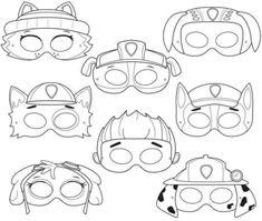 Paw Patrol Masks, Paw Patrol Party, Paw Patrol Birthday, Printable Masks, Printable Crafts, Printables, Cumple Paw Patrol, Paw Patrol Coloring Pages, Mermaid Coloring Pages
