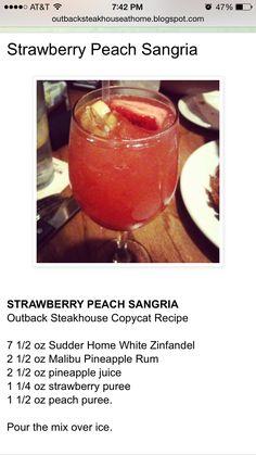 Strawberry Peach Sangria (Outback). So delicious
