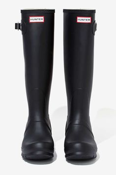 Hunter Original Tall Rainboot - Black | Shop Boots at Nasty Gal