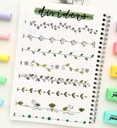 Notes have nice and tidy in our books is a good motivation to study and take exams pure But it is not always easy since our letter can be ugly (do not worry, you& not alone) or simply because we can not think how to organize ideas. Bullet Journal Inspo, Bullet Journal Dividers, Bullet Journal Lettering Ideas, Bullet Journal Banner, Journal Fonts, Bullet Journal Notebook, Bullet Journal Aesthetic, Bullet Journal School, Bullet Journal Themes