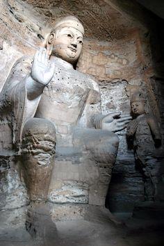 Yungang Grottoes, Yungang, Shanxi, China | Famous Buddha image, Yungang Grottoes, Dàtóng, China — July 24 ...