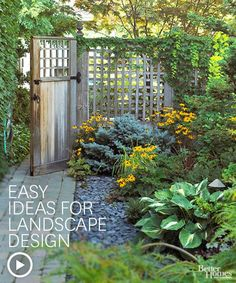 Easy Ideas for Landscape Design