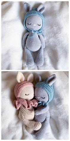 Crochet Bee, Crochet Amigurumi Free Patterns, Easter Crochet, Crochet Bunny, Crochet Dolls, Free Crochet, Crochet Baby Mobiles, Pattern Cute, Amigurumi Doll