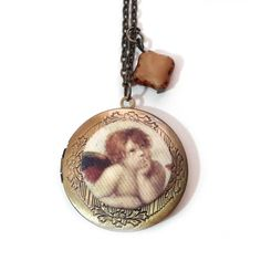 Colgante locket Ángel de Rafael de Sanzio