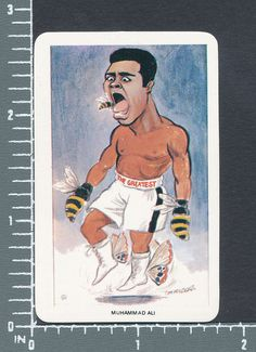Muhammad Ali boxing boxer Our Heroes World of Sport 1980 card #3