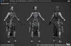ArtStation - Rodrigo Gonçalves's submission on Ancient Civilizations: Lost & Found - Game Character Art (real-time)