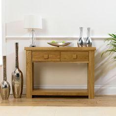 Barcelona Solid Oak Console Table -  - Console Table - Mark Harris - Space & Shape