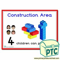 How Many Children... Construction Area Signs - Primary Treasure Chest Teaching Activities, Teaching Tools, Teaching Ideas, Eyfs Classroom, Classroom Rules, Numicon, Ourselves Topic, Construction Area, Number Patterns