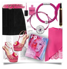 """""""Pink dream"""" by ledile ❤ liked on Polyvore featuring Miss Selfridge, Tom Ford, rag & bone, Lauren B. Beauty, Valentino, Charlotte Olympia, Pink, charms, ledile and charmsbracelets"""
