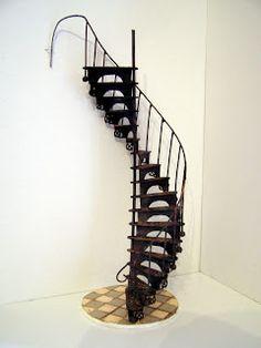 Pequeñeces: DIY- Escalera de caracol victoriana- Victorian spiral staircase
