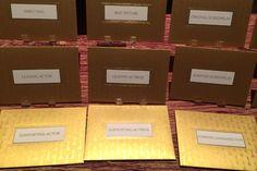 At the preview, Marc Friedland showed off the official golden Oscar envelopes. Photo: Alesandra Dubin/BizBash