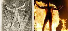 William Blake's Orc, and V from V for Vendetta. V For Vendetta, Table Lamp, Painting, Decor, Table Lamps, Decoration, Painting Art, Paintings, Decorating