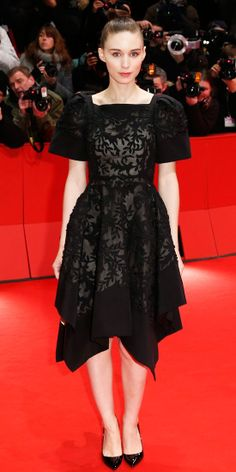 """Rooney Mara in Valentino Haute Couture for the premiere of """"Side Effects"""" (2013 Berlin Film Festival)"""